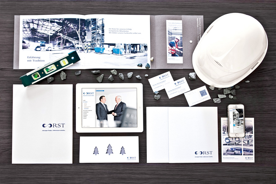 Agentur FOUR MOMENTS Corporate Design der RST GRUPPE Thale/Harz